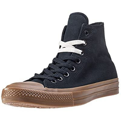 Converse Mens Chuck Taylor II Hi Gum Pack Black Canvas Trainers 8 US   Fashion Sneakers