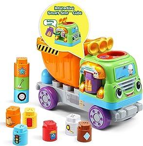 LeapFrog LeapBuilders Store and Go Dump Truck, Multicolor
