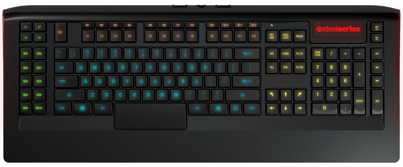 Steelseries Apex 350, Teclado de Juego, iluminación RGB 5 Zonas, 22 Teclas Macro, 2 hub USB, (PC/Mac) - Disposición US QWERTY: Amazon.es: Informática
