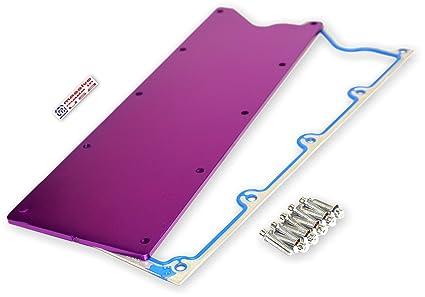 Massive Trophy GM LS Valley Cover Plate Solid Knock Sensor Eliminate Carb  EFI LS 1 2 3 6 4 8 5 3 5 7 6 0 X (Purple Limited)