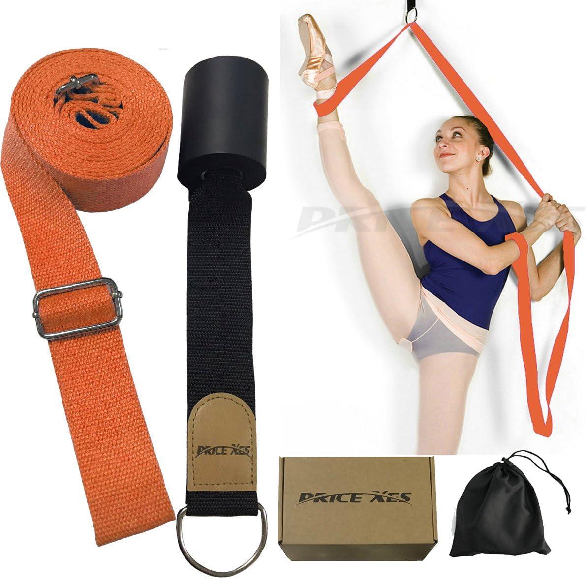 Great for Ballet Cheer Dance Gymnastics or Any Sport Leg Stretcher Door Flexibility Trainer Premium Stretching Equipment Price Xes Door Flexibility /& Stretching Leg Strap