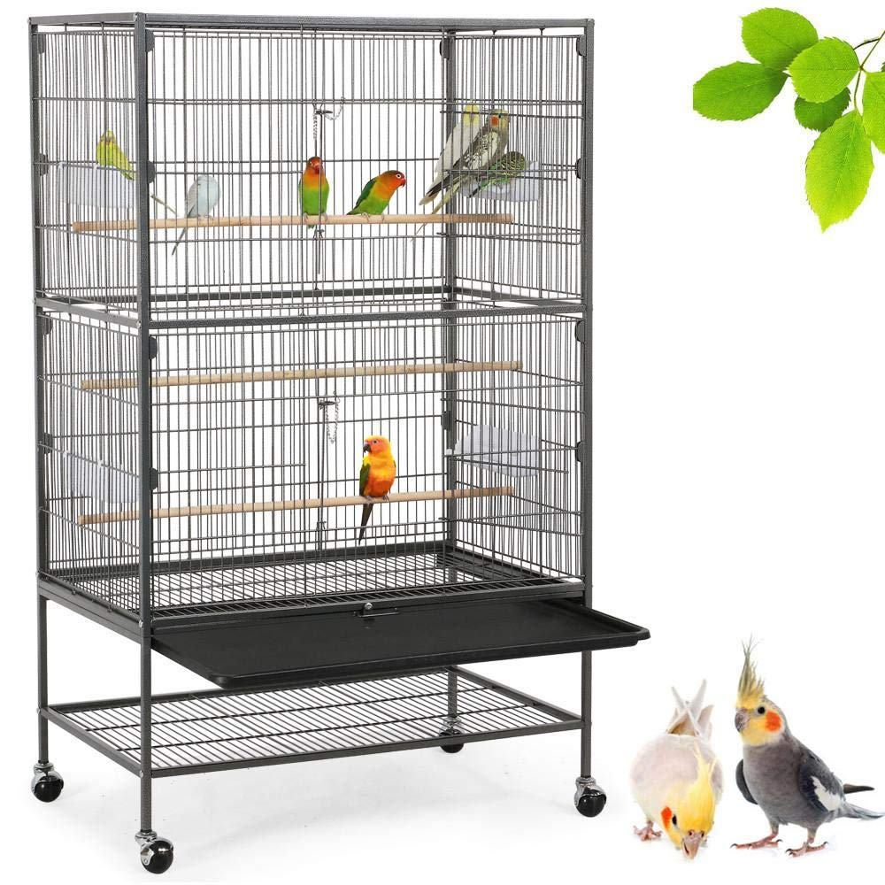 Yaheetech 52-inch Wrought Iron Standing Large Bird Cage