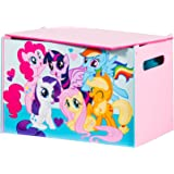 My Little Pony Kids Toy Box - Childrens Bedroom Storage Chest with Bench Lid by HelloHome