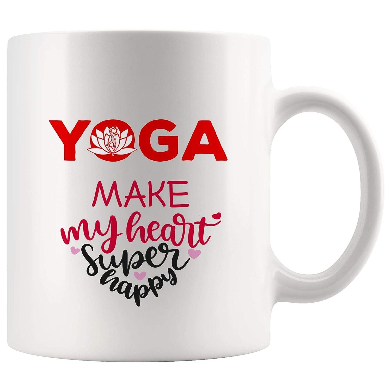 Amazon.com: My Heart Supper Happy Yoga Mug Coffee Cup Tea ...