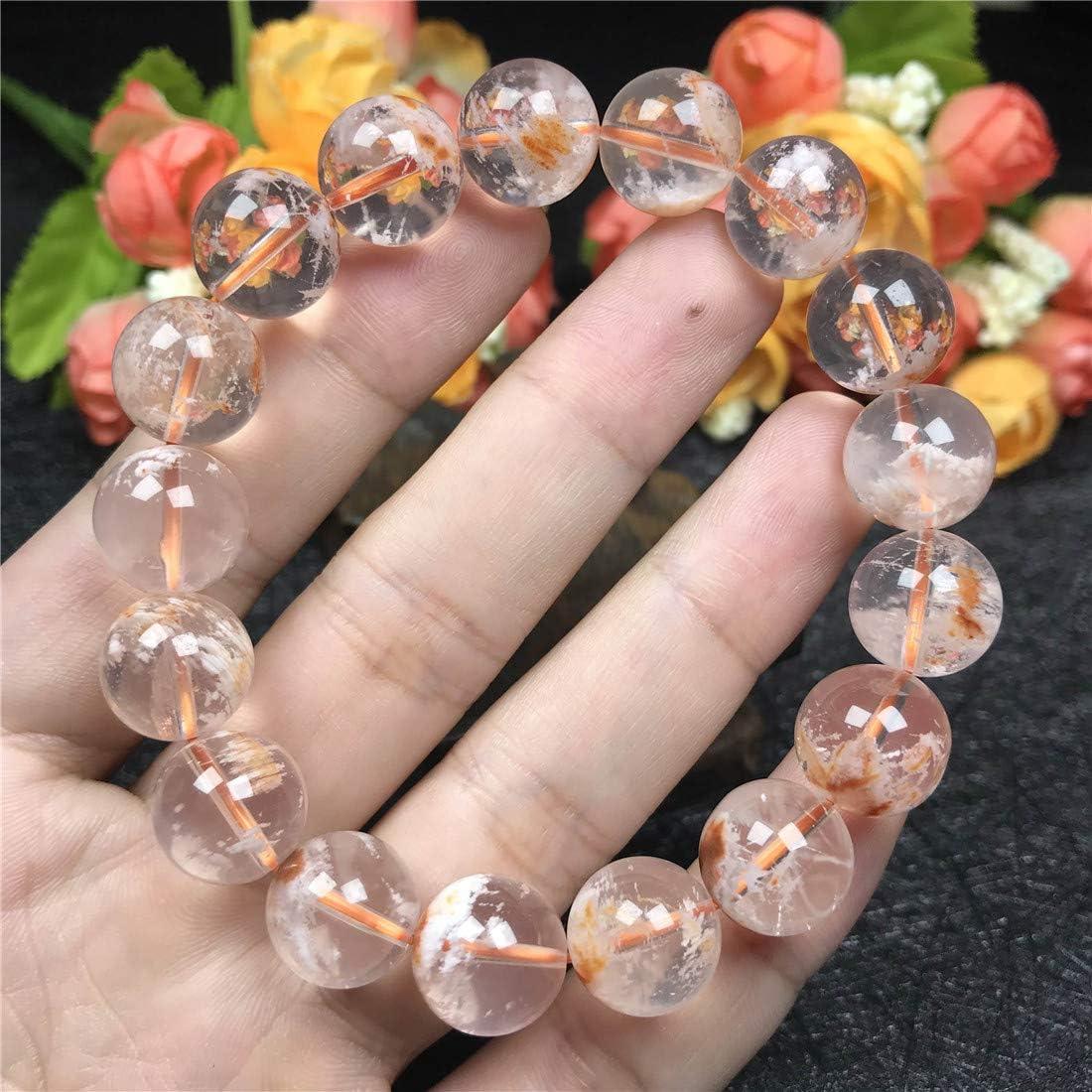 DUOVEKT - Pulsera de cuarzo para mujer, diseño de cerezo fantasma con piedras preciosas redondas de cristal de 12 mm