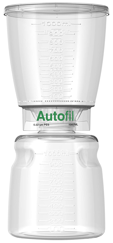Autofil Sterile Disposable Vacuum Filter Units with 0.2um Sterilizing PES Membrane, 1000mL, 12/CS