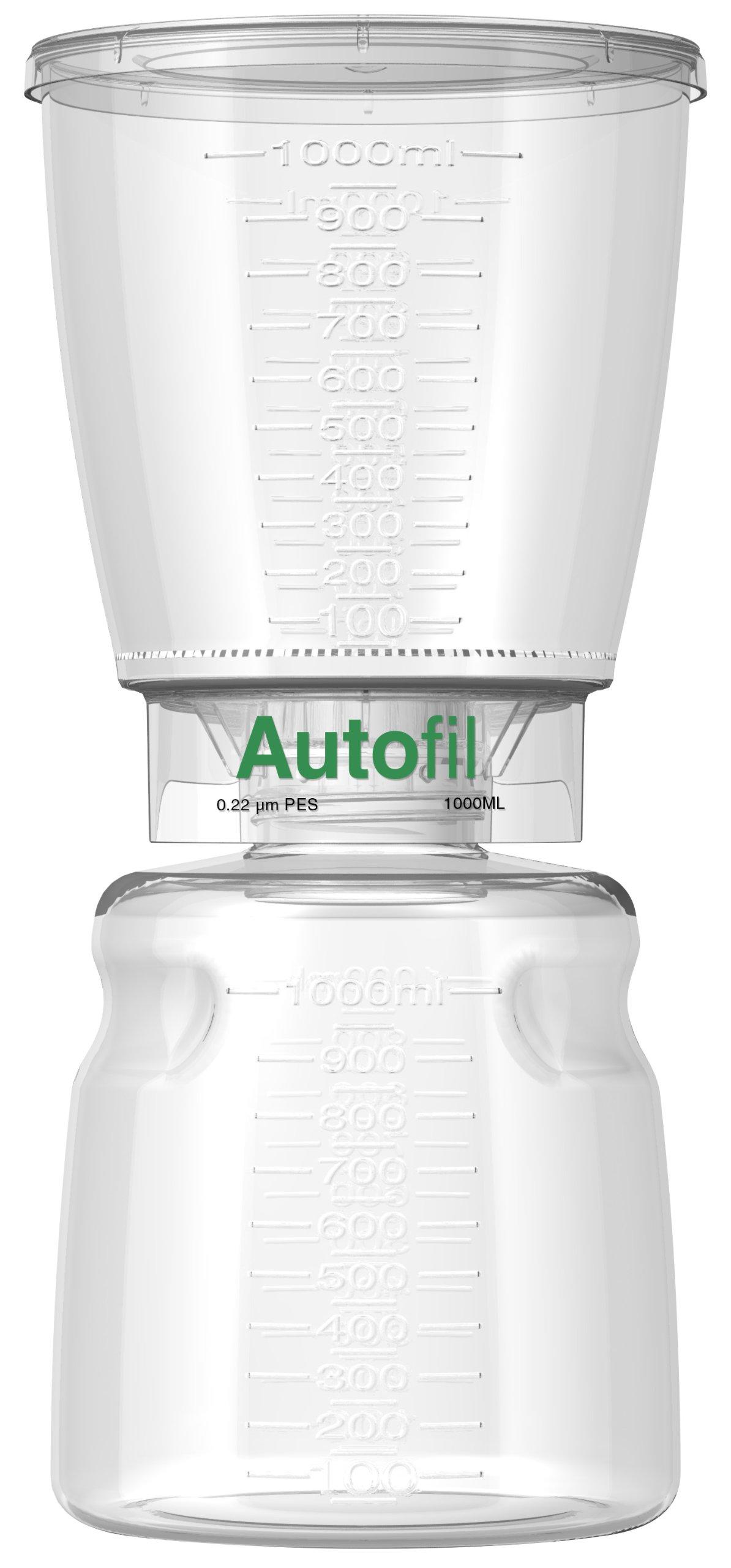 Autofil Sterile Disposable Vacuum Filter Units with 0.2um Sterilizing PES Membrane, 1000mL, 12/CS by Foxx Life Sciences