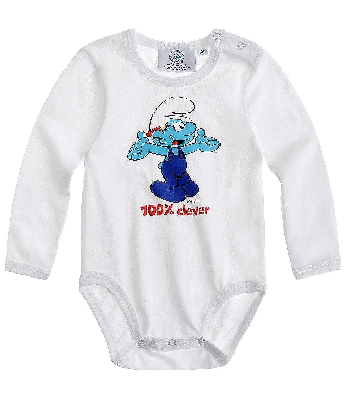 Los Pitufos Babies Body bebé - Blanco: Amazon.es: Ropa y ...
