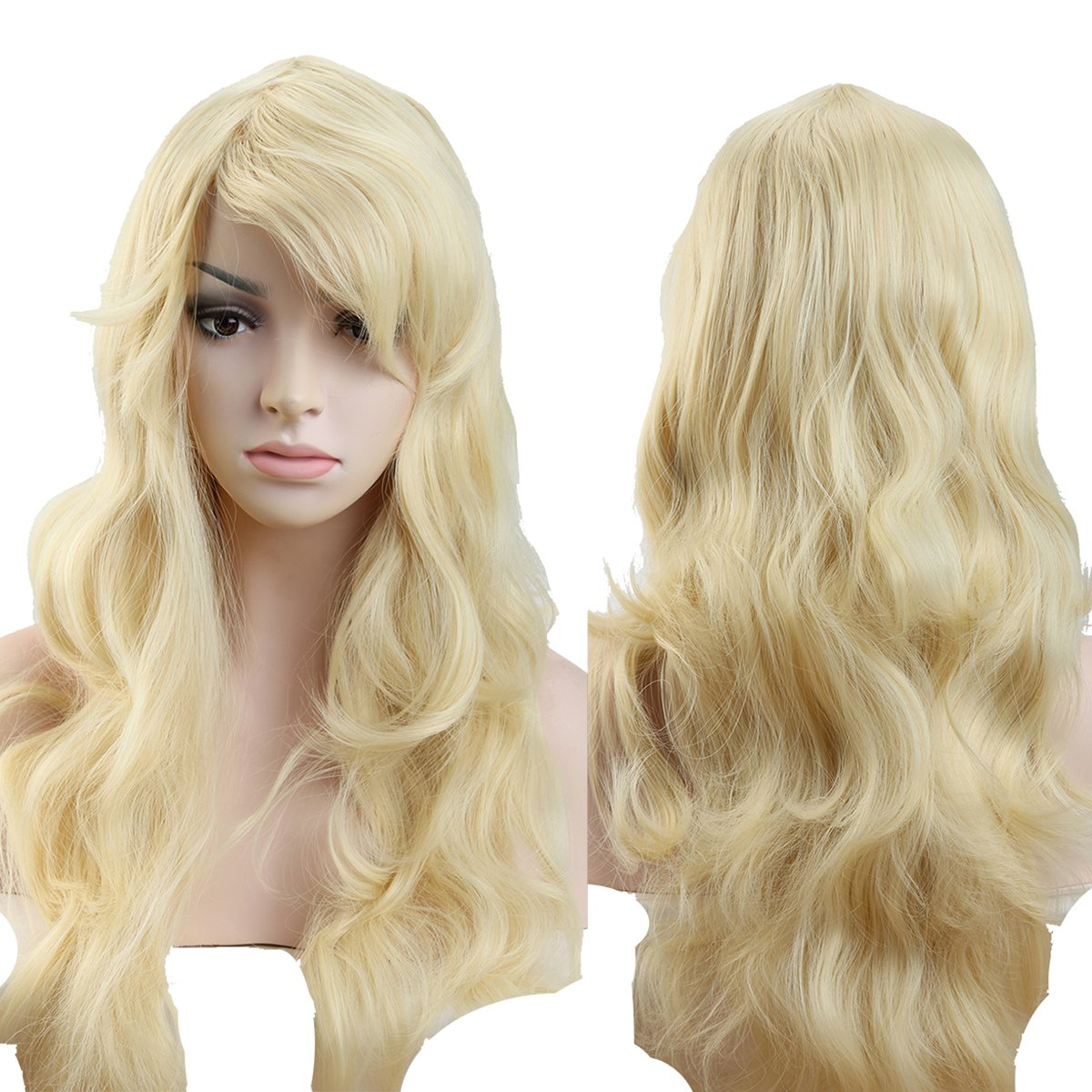 S-noilite Women's Straight Full Wig 24' Long Natural Black Hair Wig Elegant Lady Party Daily Dress