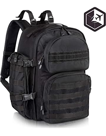 VENTURE 4TH Premium Black Military Tactical Backpack for Men | Large Assault, Water Resistant,