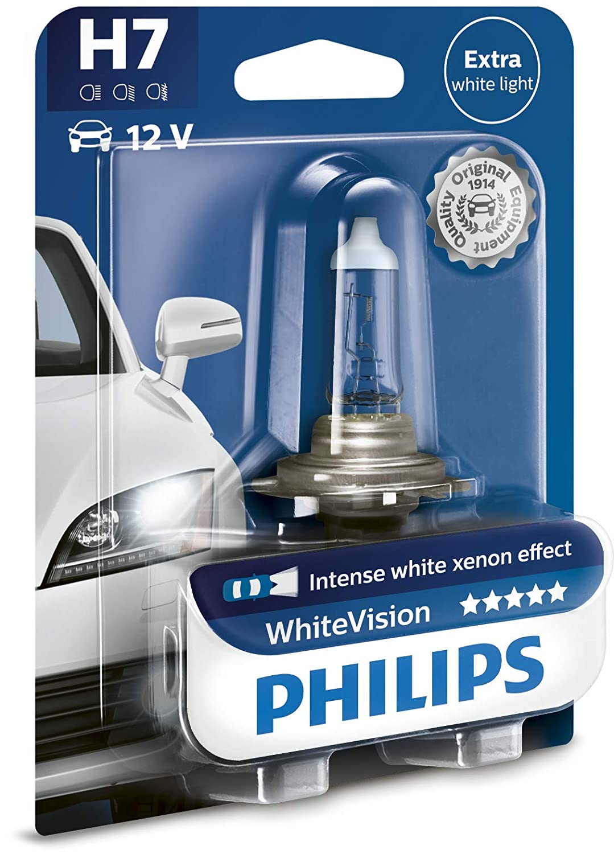 Philips WhiteVision effet xénon H6W lampe automobile 12036WHVB2, blister de 2