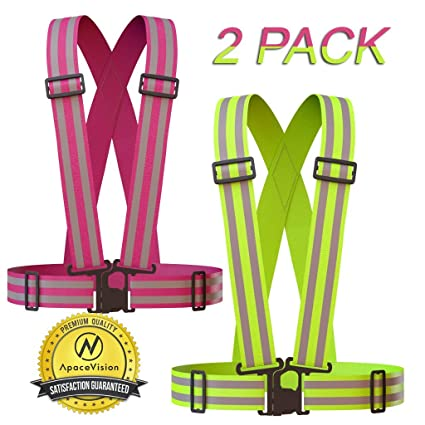 Adjustable /& Elastic Fits Over Outdoor Clothing Safety /& High Visibility for Running Fluorescent Yellow Cycling Walking Jogging Reflective Vest Lightweight Motorcycle Jacket//Gear