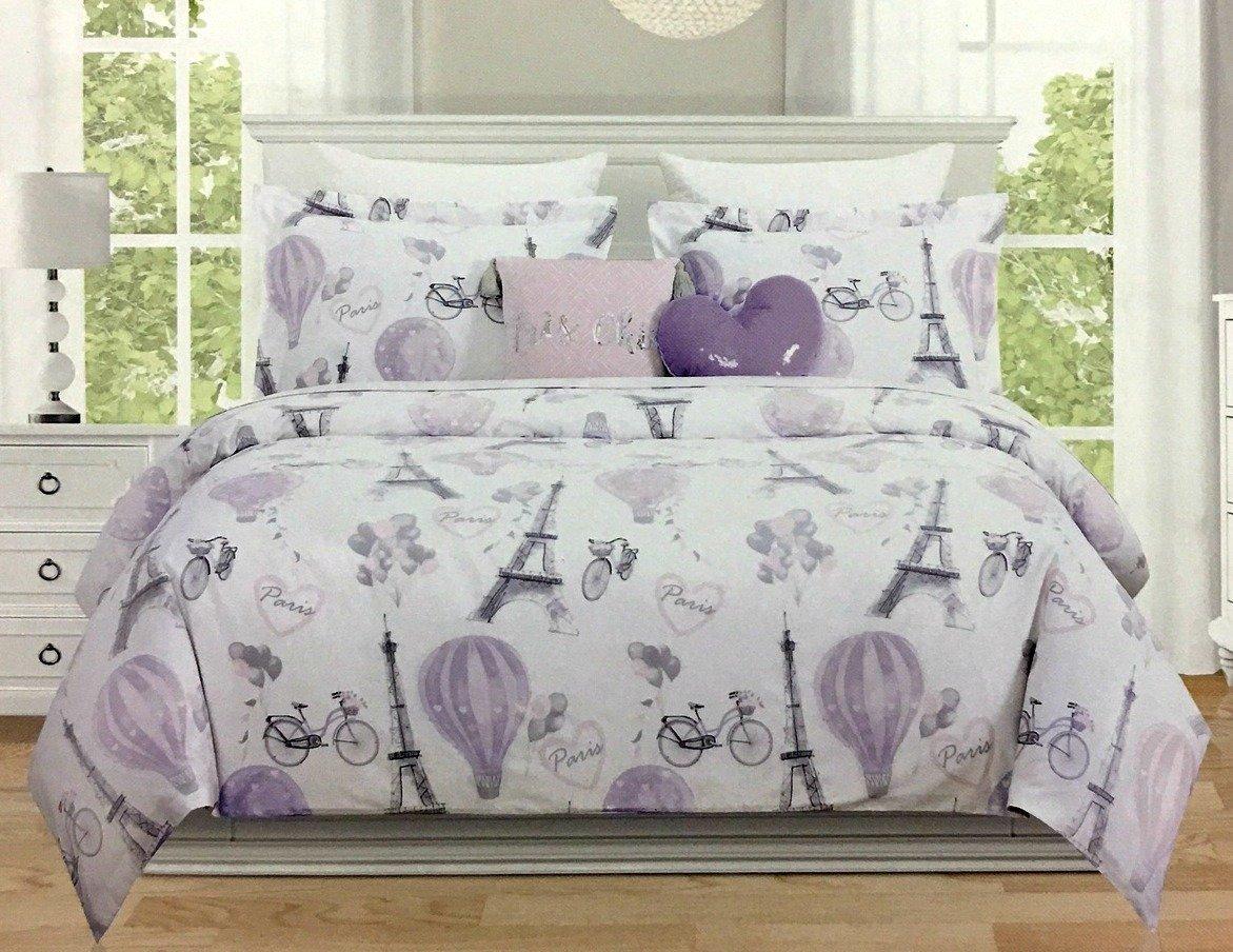 4-Piece TWIN PARIS/EIFFEL TOWER Comforter Set by Envogue Kids