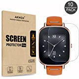 """[10-Pack] Screen Protector for ASUS ZenWatch 2 - 1.45"""" Inch, AKWOX Full Coverage Anti-Bubble Screen Protective Film"""