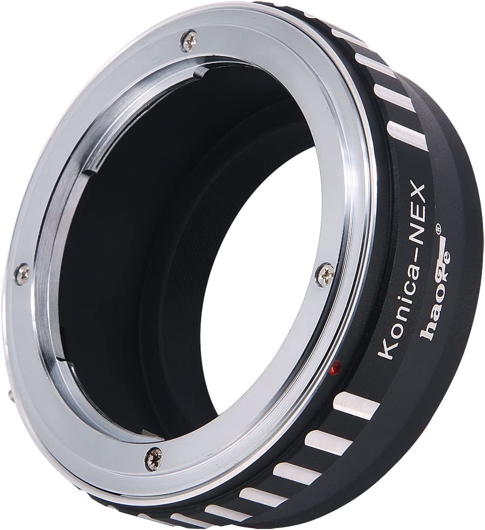 Haoge Manual Lens Mount Adapter for Konica AR Mount Lens to Sony E Mount NEX Camera as a3000 a3500 a5000 a5100 a6000 a6400 a6500 A7 A7R A7S A7II A7RII A7SII A7III A7RIII A9 VG10 VG30 VG900 FS700 FS7