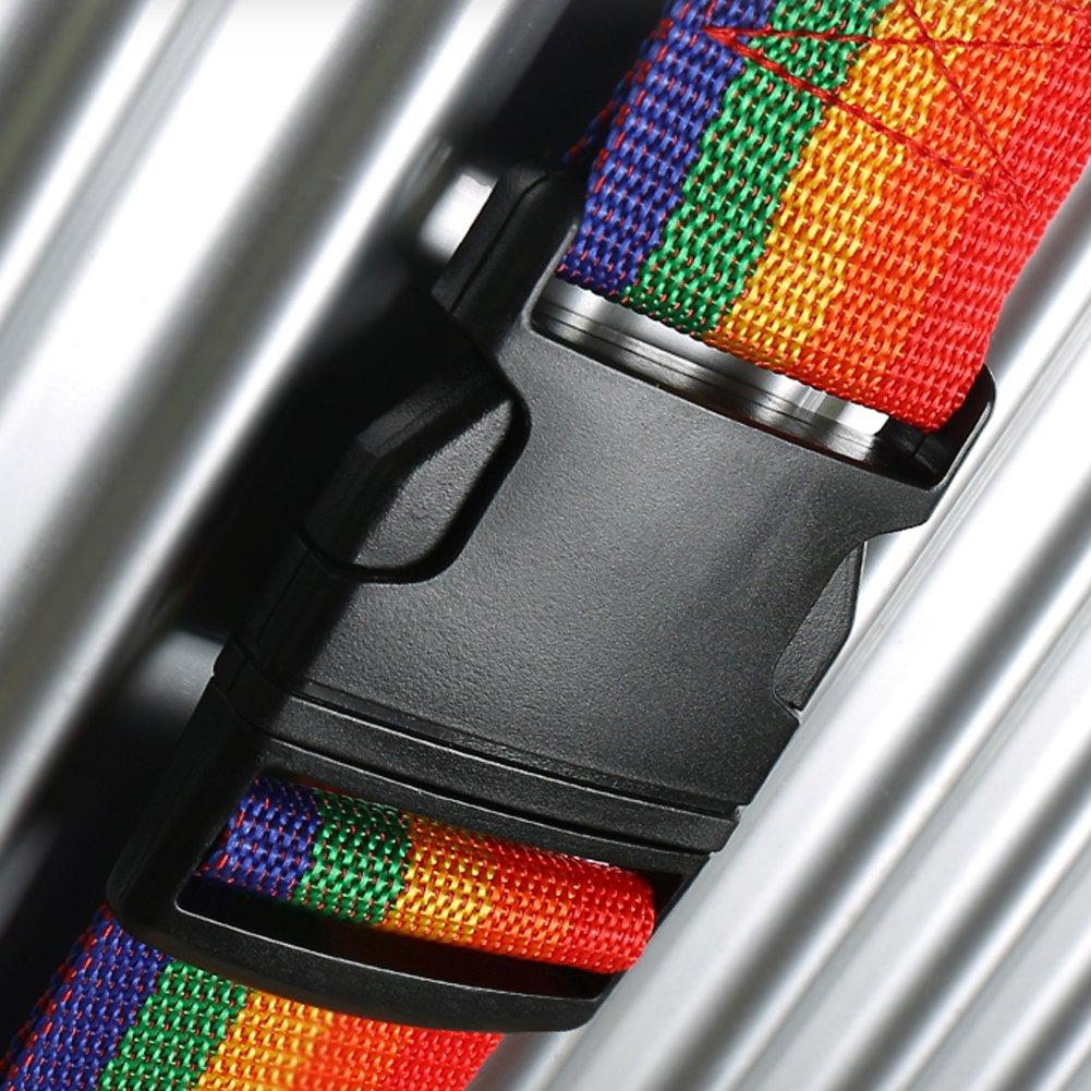 bleu 200/cm de long r/églable ceinture de sangle de bagage sac de voyage accessoires pour valise 50,8/ Aveson Lot de 2/sangles de bagages 81,3/cm