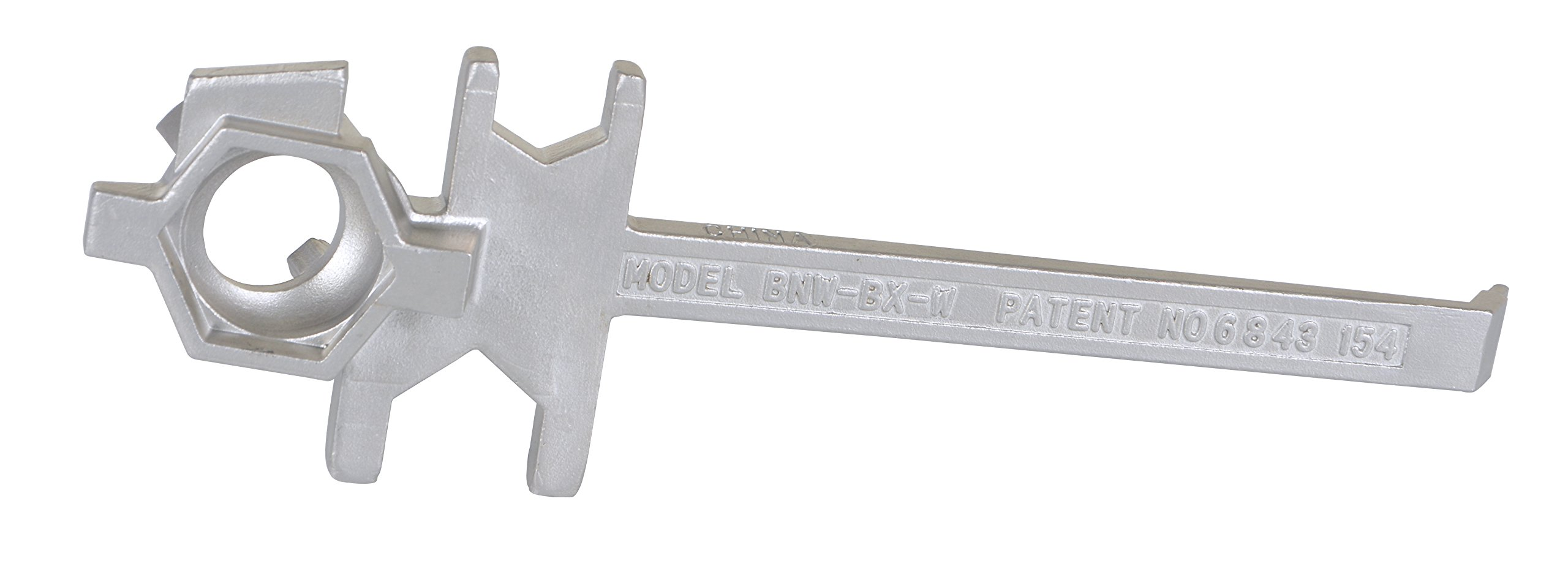 Vestil BNW-SS-W Stainless Steel Bung Nut Wrench, 2009 FDA Food Code Requirements for Non Food-Contact Equipment, 12'' Length by Vestil (Image #2)