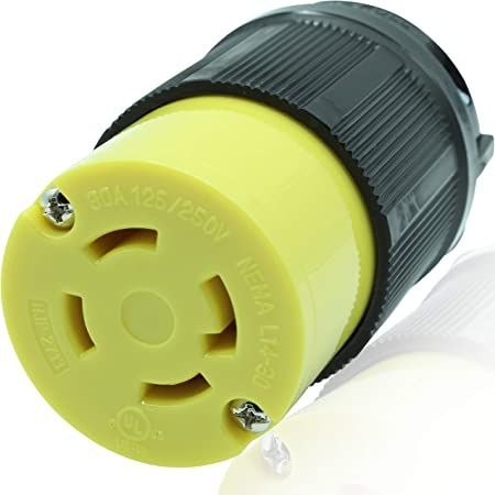 FEMALE Receptacle 4W NEMA L14-30 Locking Plug 30 Amp 3P 125//250 Volt