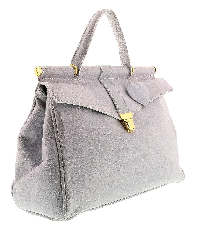 HS2071 VIVI White Leather Top Handle/Shoulder Bag