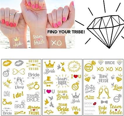 Tatuajes para despedida de soltera, diseño de novia temporal ...