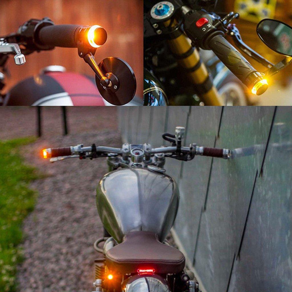 Dolity 1 par Intermitentes de Manillar L/ámpara Marcador Lateral Montaje para Motocicleta