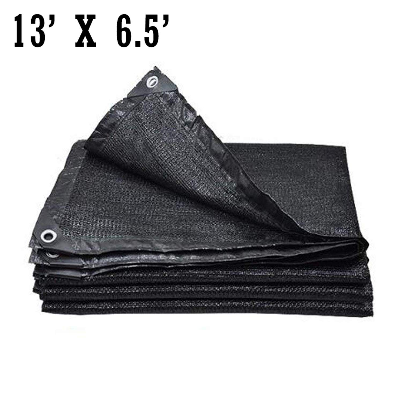 Originalidad 50%-60% UV Shade Cloth Black, Premium Mesh Shadecloth Sunblock Shade for Greenhouse Flowers, Plants, Patio Lawn(13ft x 6.5ft)