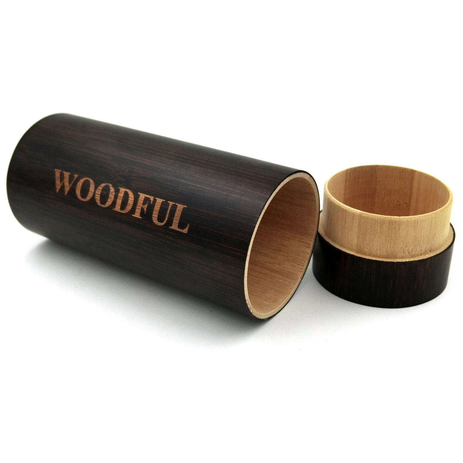 Bamboo Sunglasses Case Dark Brown Color Sunglasses Packaging by woodful