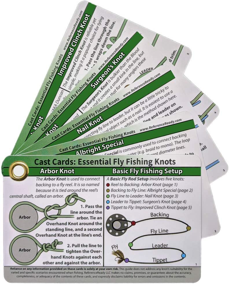Amazon Com Referenceready Fly Fishing Knot Cards Sports Outdoors