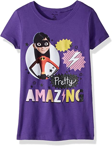 Disney Girls The Incredibles 2 Violet Superhero Short Sleeve T-Shirt