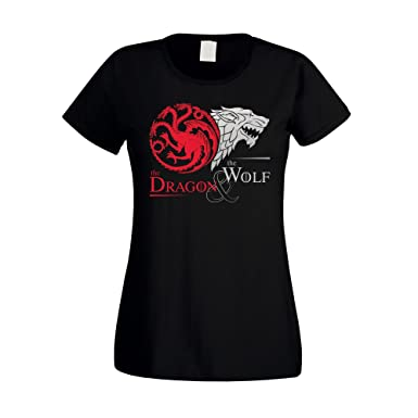 Game of Thrones - The Dragon & the Wolf - Targaryen & Stark - GoT Damen T- Shirt - von SHIRT DEPARTMENT: Amazon.de: Bekleidung