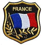 ecusson drapeau france francais thermocollant 8x7cm