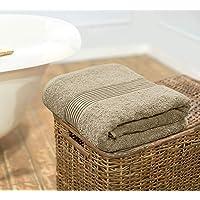 Swiss Republic Signature Collection 600 GSM Large Bath Towel Oversized 90cm x 180cm Set of 1, Light Brown