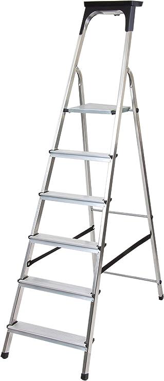 Brennenstuhl 1401260 Escalera de plataforma Aluminio escalera - Escalera de mano (191 cm, 5,1 kg, 480 mm, 12 cm): Amazon.es: Bricolaje y herramientas