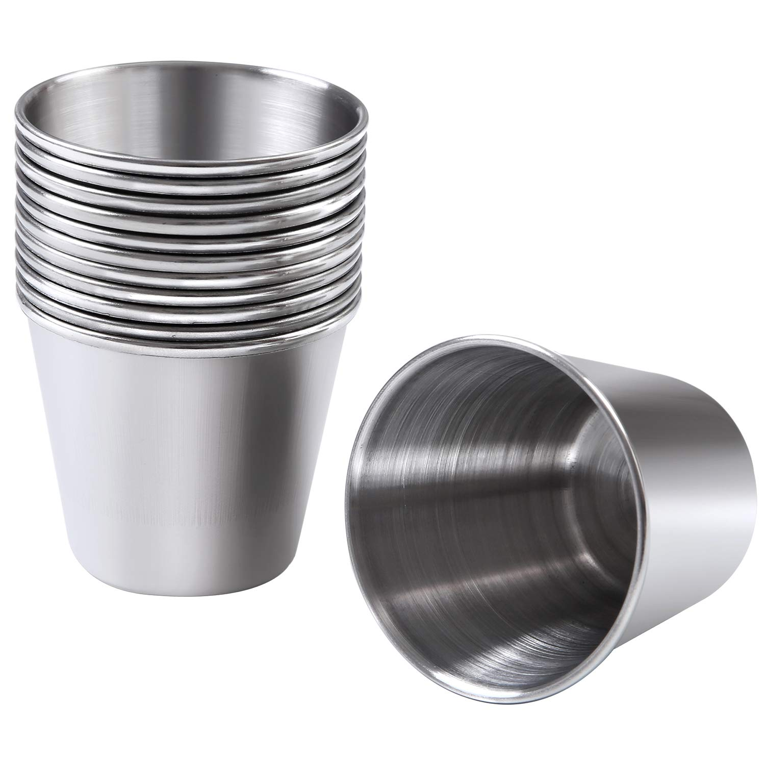 Ruisita 12 Pieces Stainless Steel Shot Cups Stainless Steel Shot Glass Drinking Tumbler (1.5 Ounce)