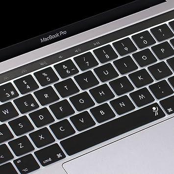 proelife 2016 Nuevo Ultra Thin Funda de silicona para teclado español Skin para MacBook Pro 13