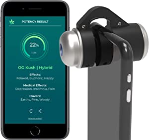 HiGrade Analyzing Scope – Instant Mobile Testing Kit – Accurate Potency Test Kit – Includes: 1 HiGrade Scope, 1 Year HiGrade Pro App Subscription – Cultivation Assistance – for Home Growers