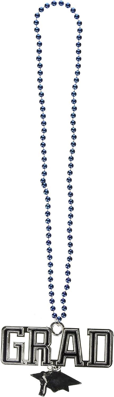 Abalorios Beistle con medallón de graduado talla única azul