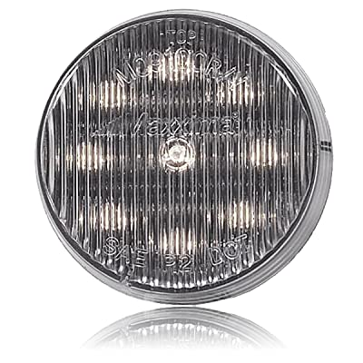 "Maxxima M09100WCL 9 LED White 2"" Round Interior Courtesy Light: Automotive"