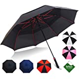 """Repel Umbrella Golf Umbrella - 60"""" Vented Double Canopy with Triple Layered Reinforced Fiberglass Ribs and Teflon…"""
