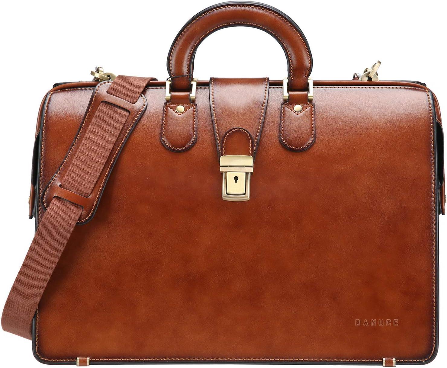 Luxury Office Briefcase Genuine Leather Code Lock Men/'s Business Work Hand Bag