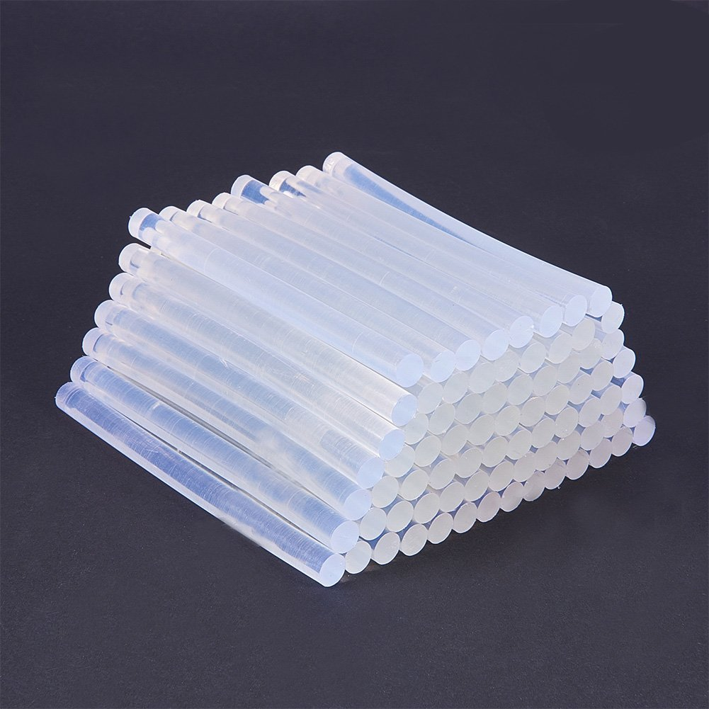 NBEADS 80 PCS Clear Hot Melt Glue Sticks for Hot Glue Gun, High Viscosity Hot Melt Adhesive Bar 0.27'' Diameter 3.9'' Length