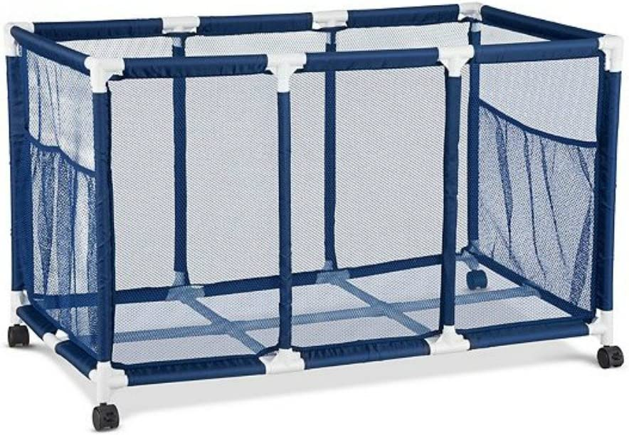 "35x22x33/"" Mesh Pool Storage Bin Rolling Cart Float Goggles Organizer Metal Frame"