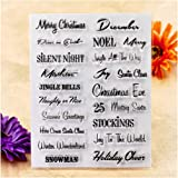 Kwan Crafts Words Merry Christmas Snowman Season's Greetings Clear Stamps for Card Making Decoration and DIY…