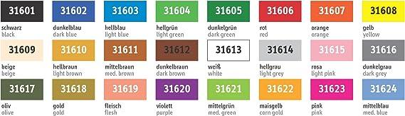 Mini Stecksystem Farbstreifen Sortiment Standard v 601-608 ca 1.344 Teile