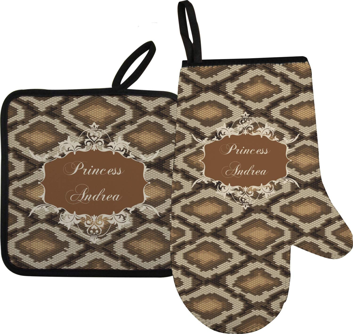YouCustomizeIt Snake Skin Oven Mitt & Pot Holder (Personalized)