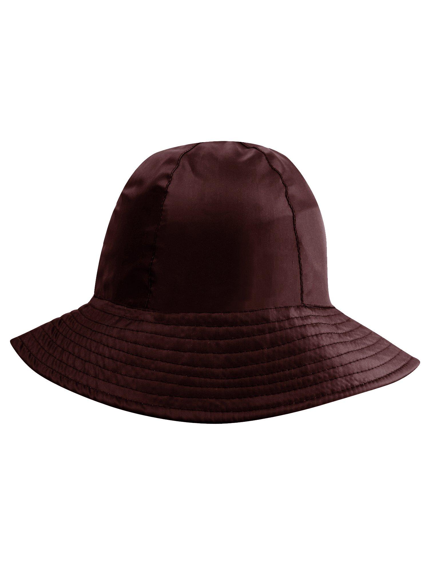 Brown Reversible Rain Or Sun Style Bucket Hat