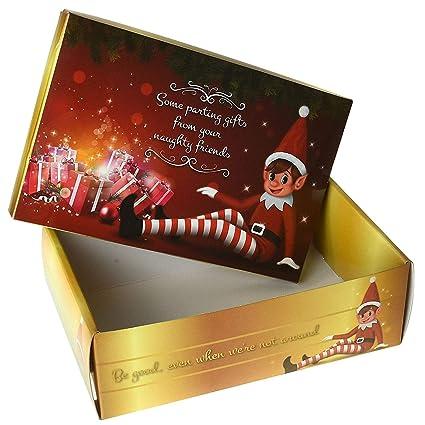 Glow Boîte De Réveillon De Noël Pliable Avec Un Message