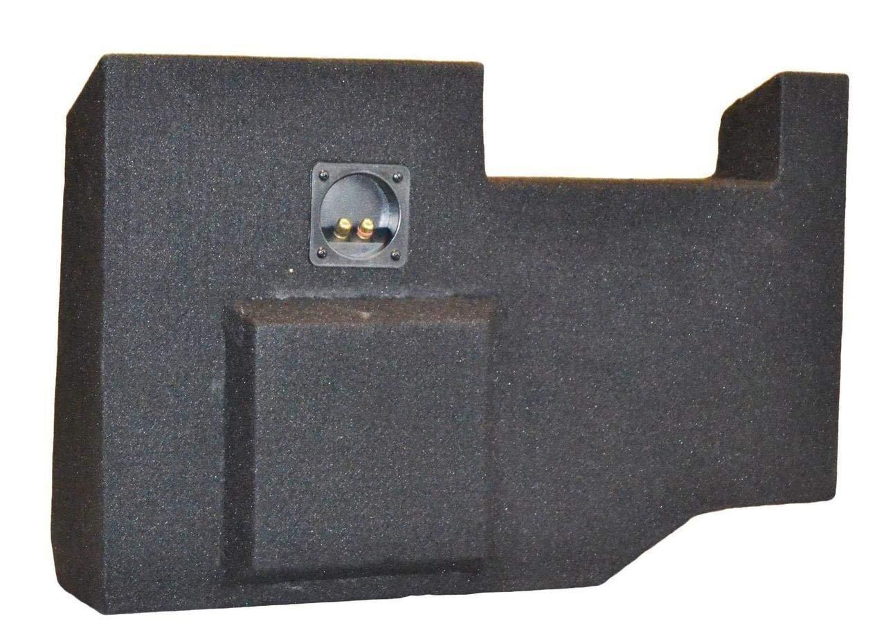 SoundBox Chevy Silverado/GMC Sierra Crew Cab Single 10'' Subwoofer Enclosure Sub Box 2014-2018