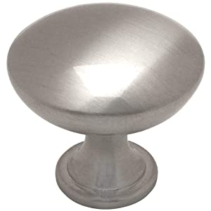 "10 Pack - Cosmas 5305SN Satin Nickel Traditional Round Solid Cabinet Hardware Knob - 1-1/4"" Diameter"