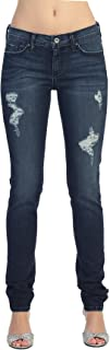 product image for Angry Rabbit Women's Long Slim Fitted Faded Ripped Premium Denim Jean